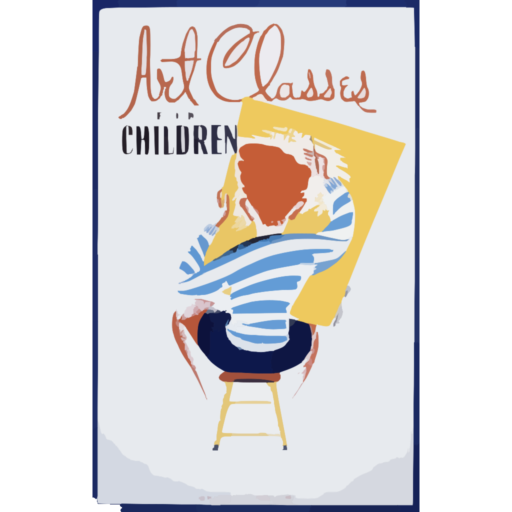 Art Classes For Children  / Rek SVG Clip arts