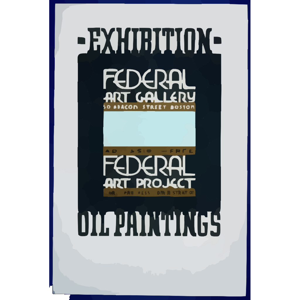 Exhibition - Oil Paintings, Federal Art Gallery SVG Clip arts