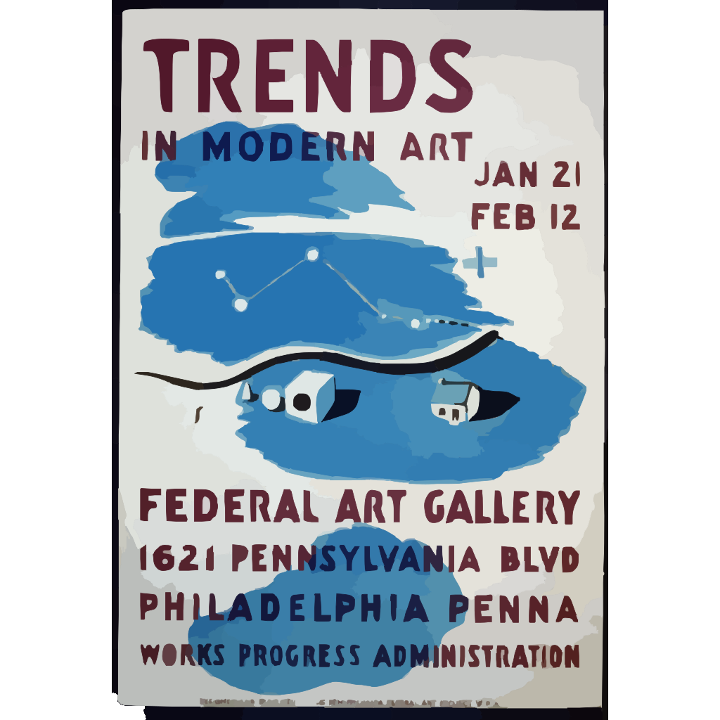 Trends In Modern Art  / S. SVG Clip arts