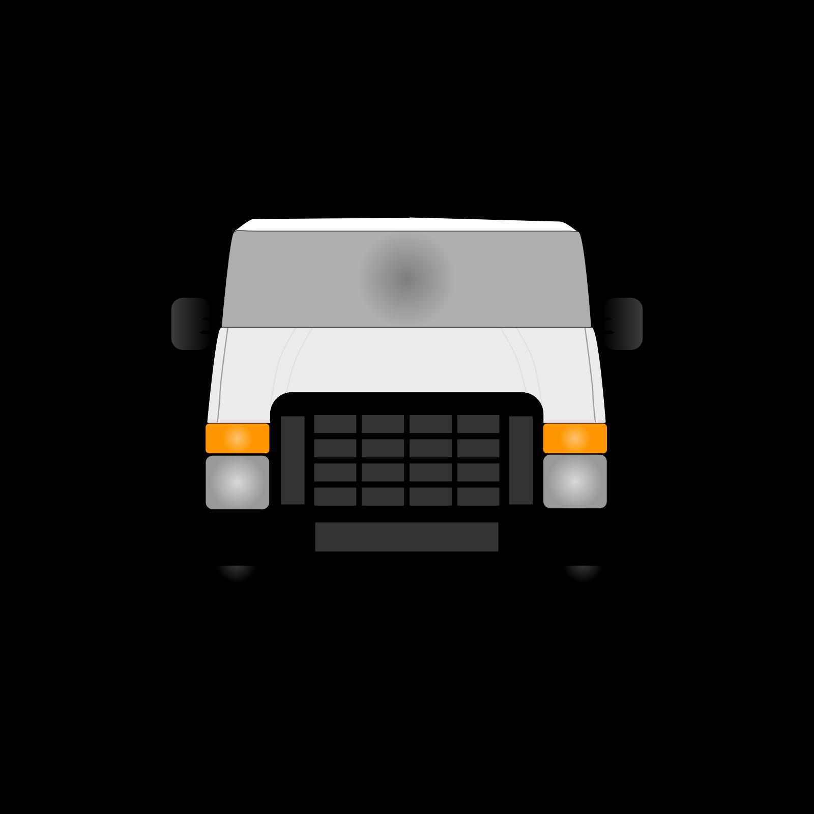 Blue Van SVG Clip arts