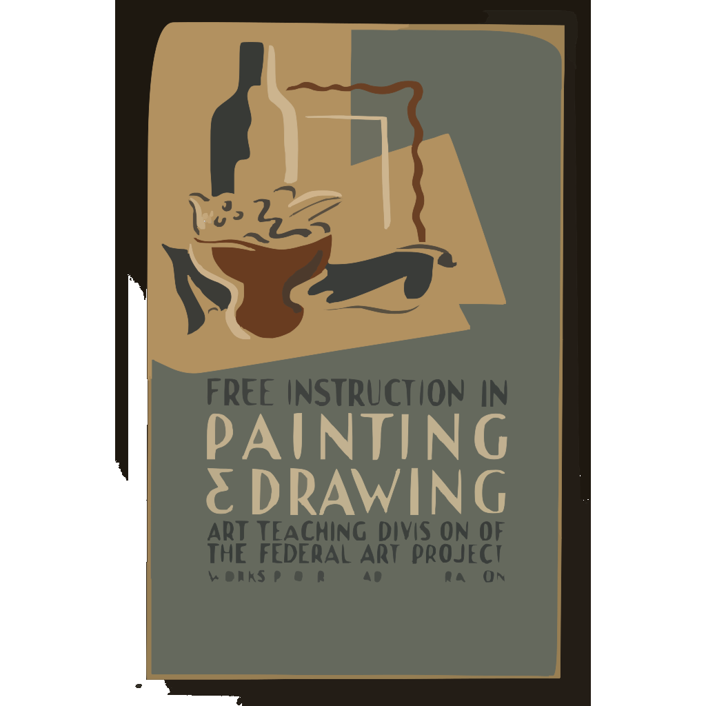 Free Instruction In Painting & Drawing Art Teaching Division Of The Federal Art Project, Works Progress Administration. SVG Clip arts