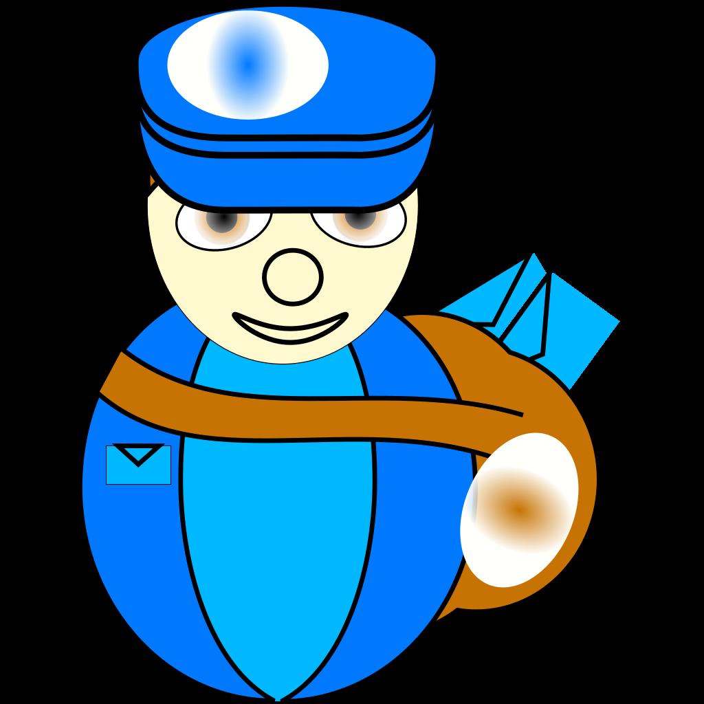 Mailman SVG Clip arts