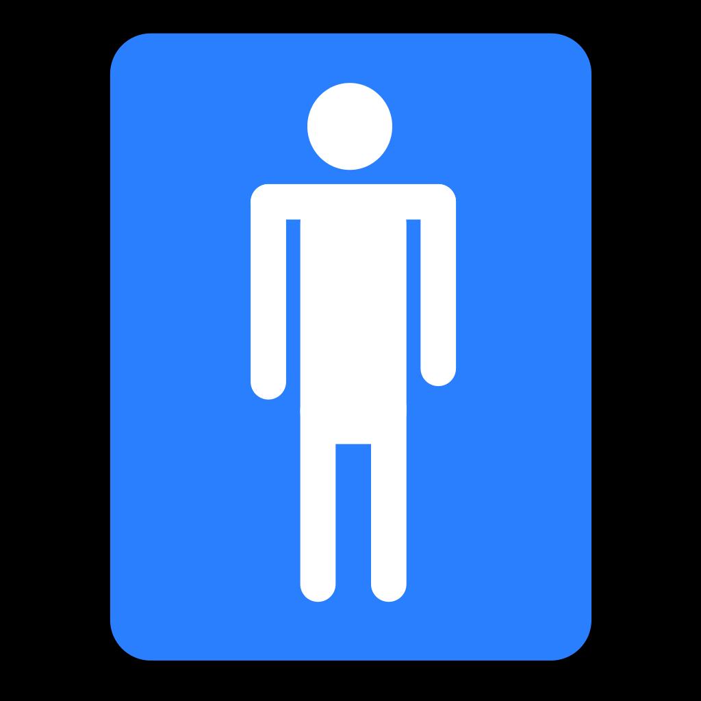 Men Bathroom Blue Sign SVG Clip arts
