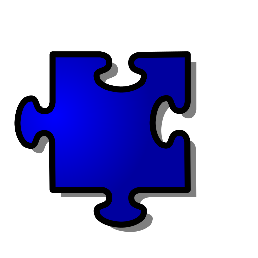 Blue Jigsaw Piece SVG Clip arts