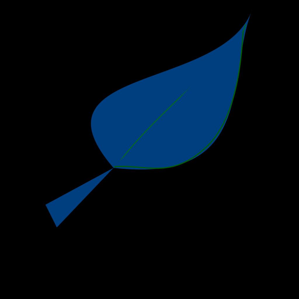 Blue Leaf SVG Clip arts