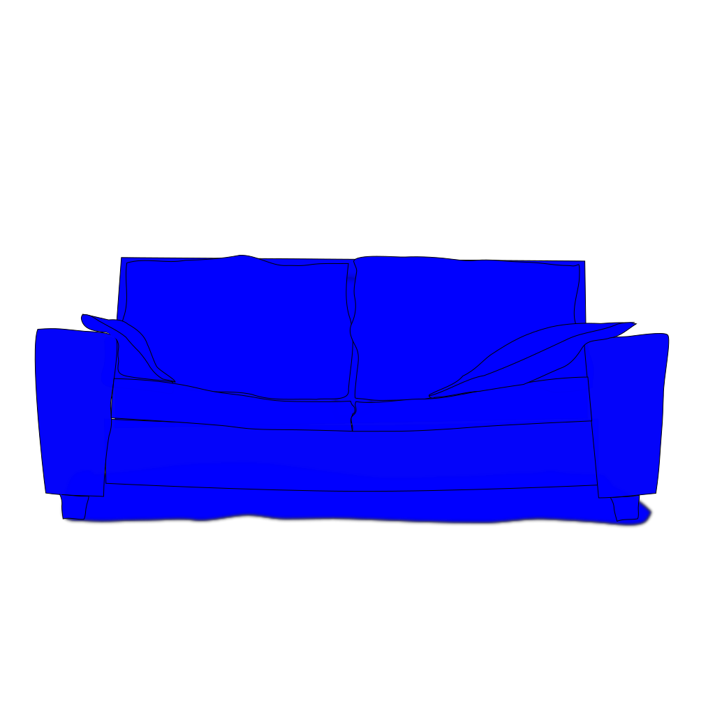Blue Couch SVG Clip arts