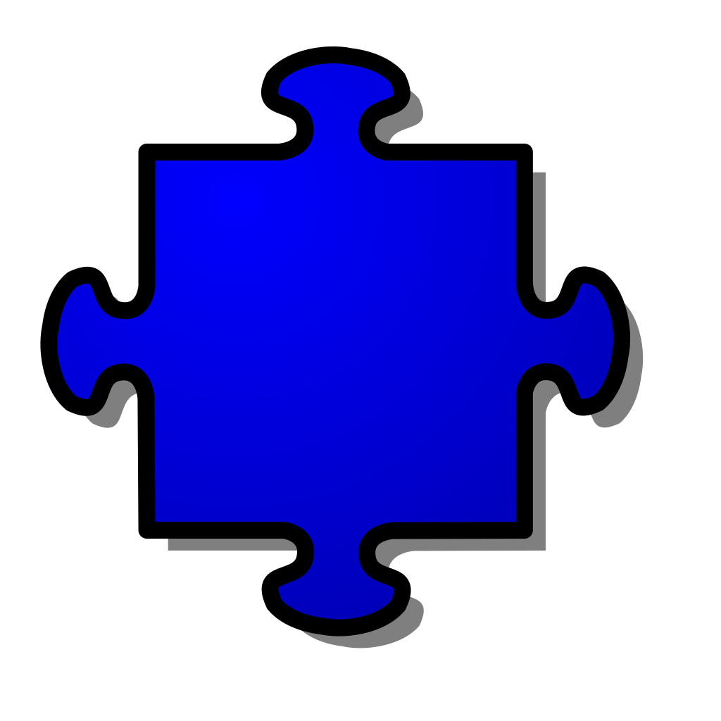 Blue Jigsaw Piece SVG Clip arts