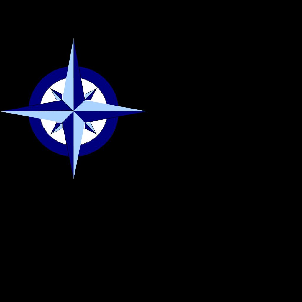 Blue Compass Rose SVG Clip arts