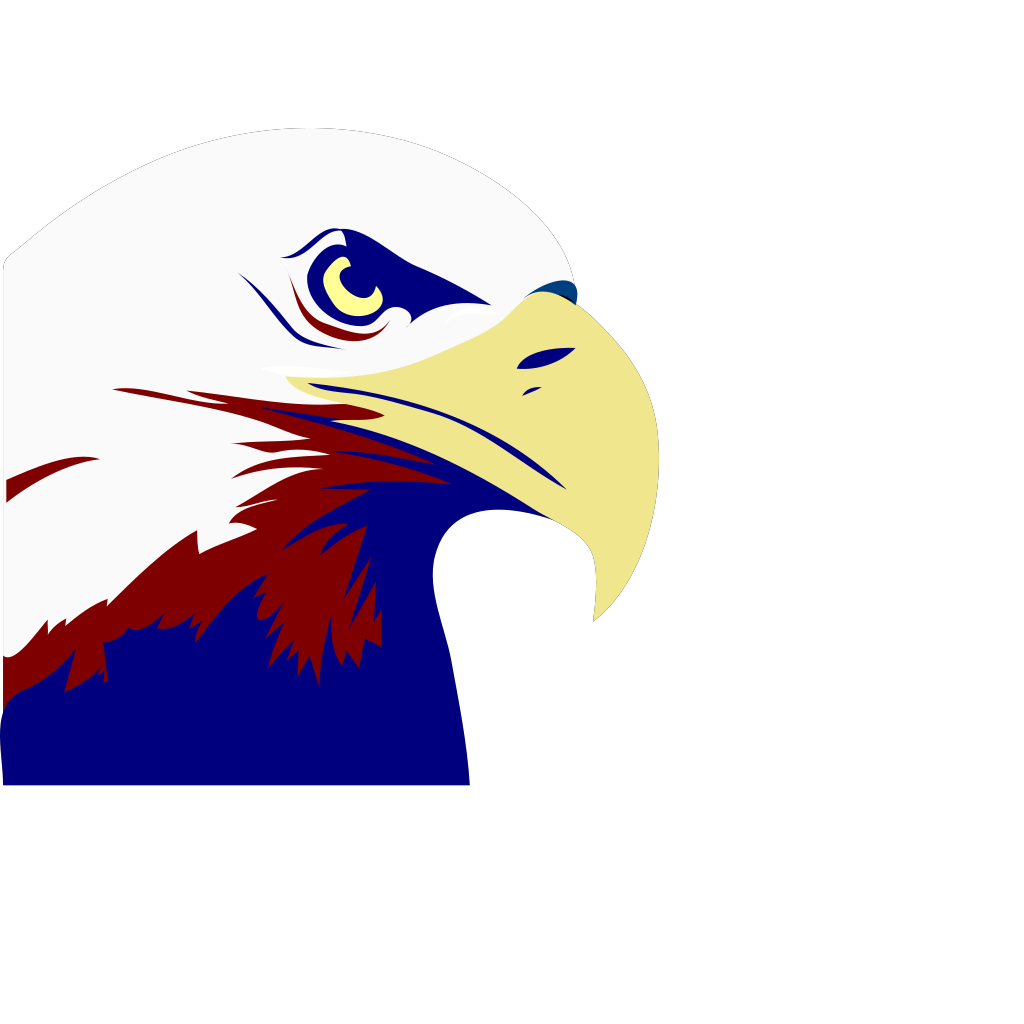 Eagle Red White Blue SVG Clip arts
