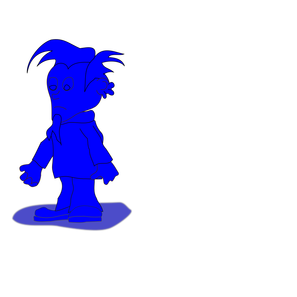 Blue Elf Dude SVG Clip arts