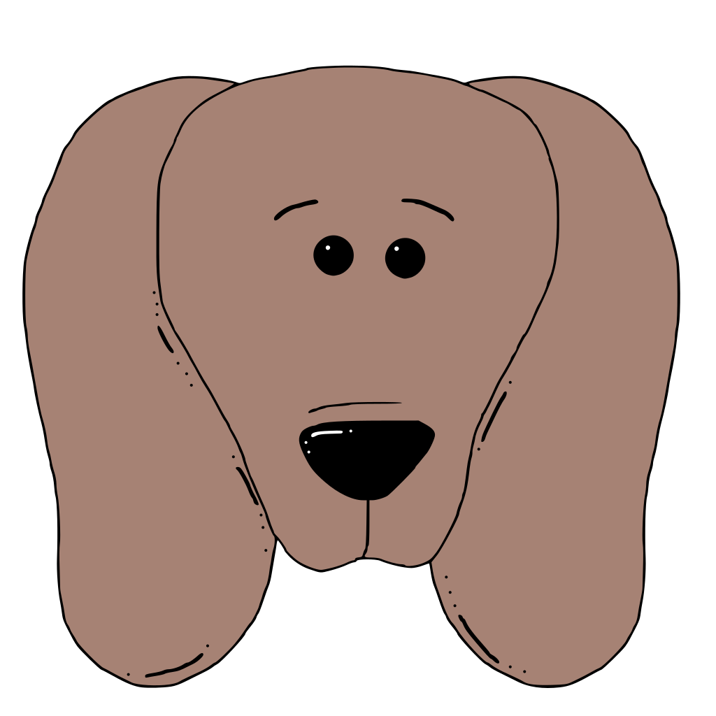 Dog Face 2 SVG Clip arts