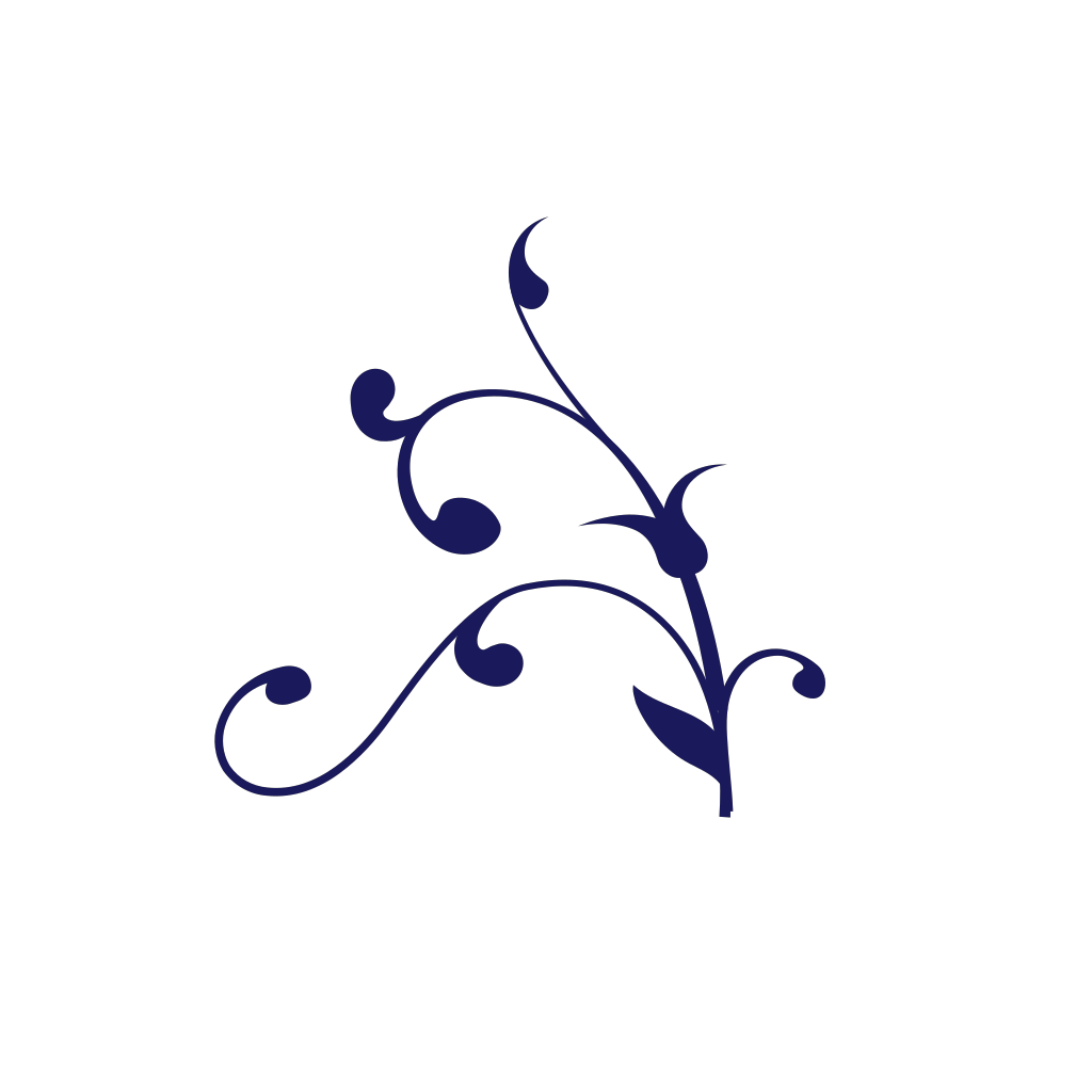 Blue Twisted Branch SVG Clip arts