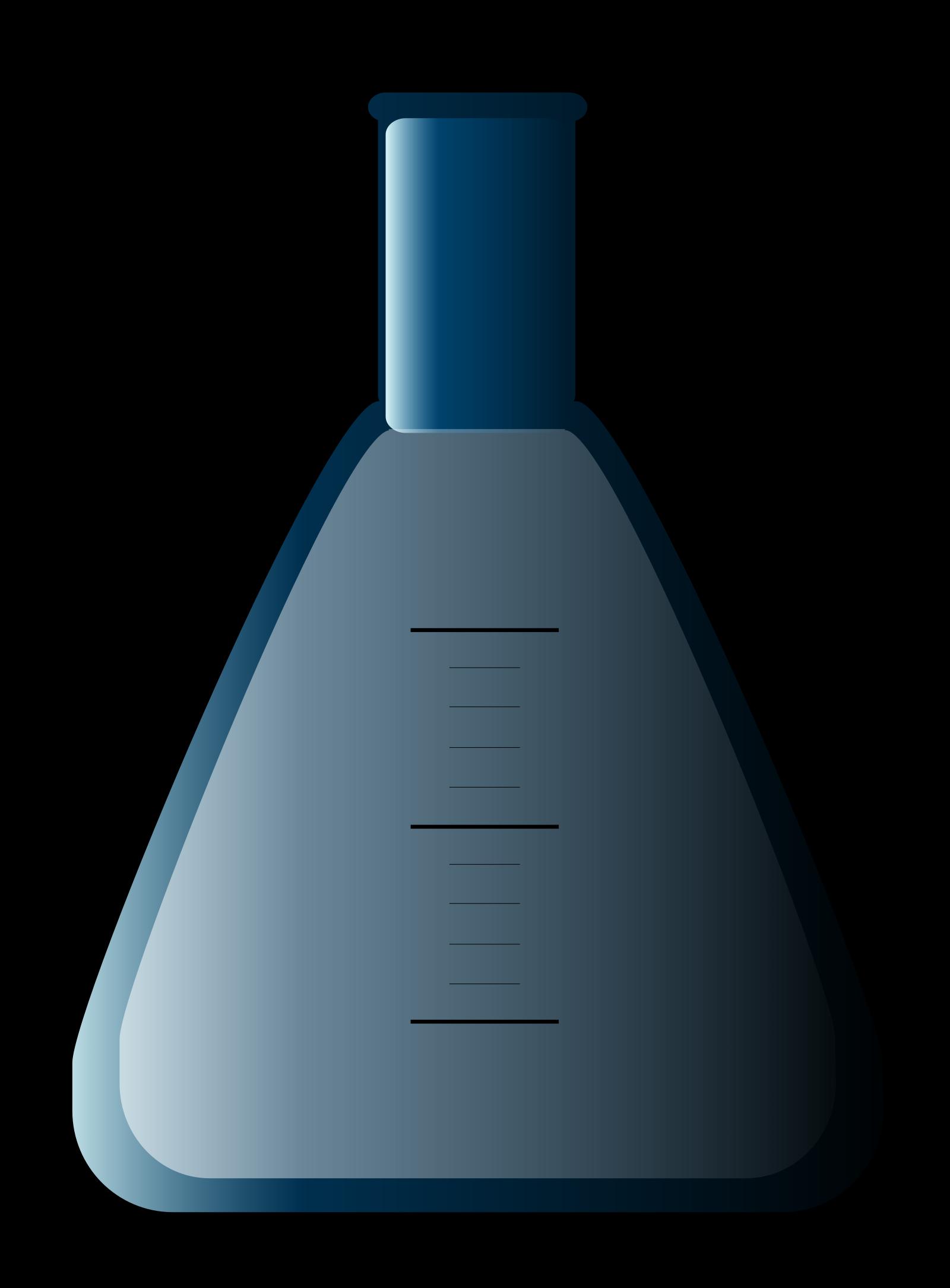 Blue Flask SVG Clip arts