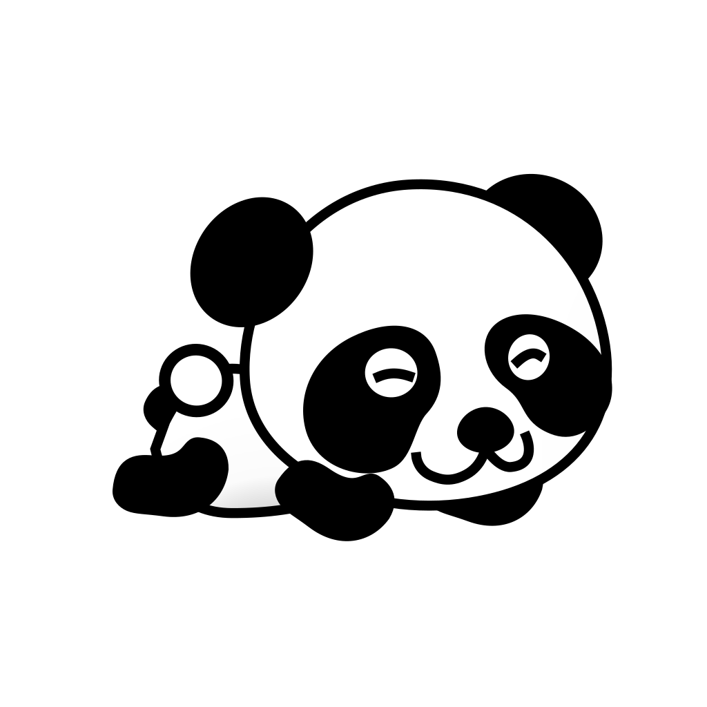 Panda For Election SVG Clip arts