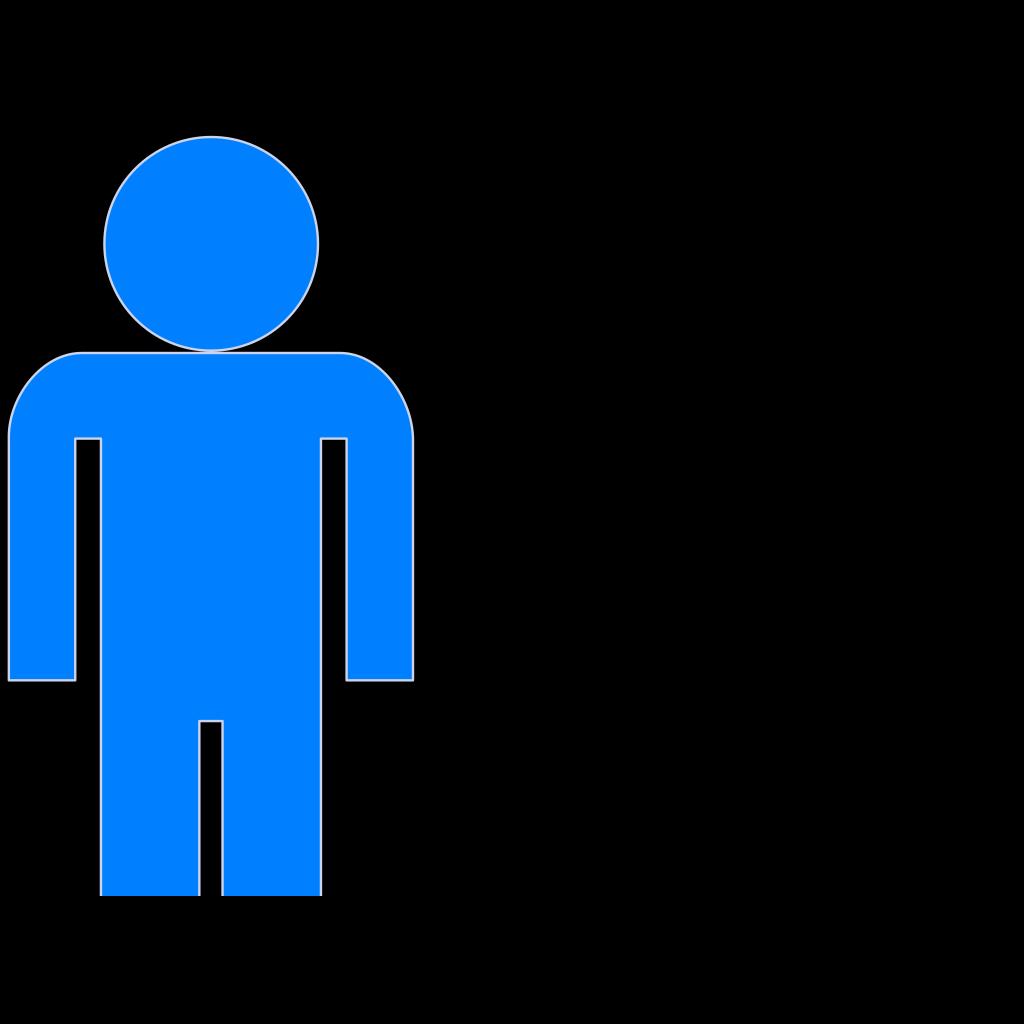 Blue Man Clipart SVG Clip arts