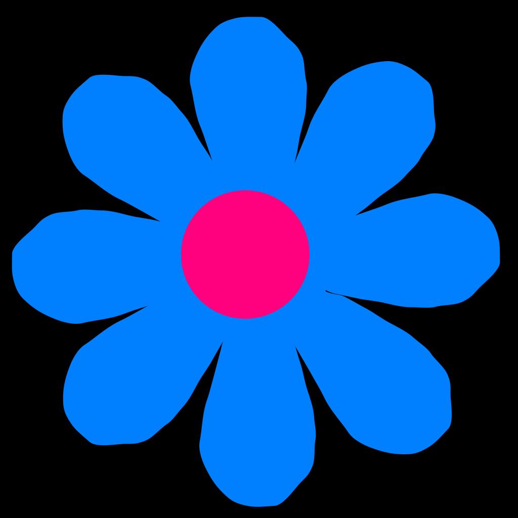 Blue Flower SVG Clip arts
