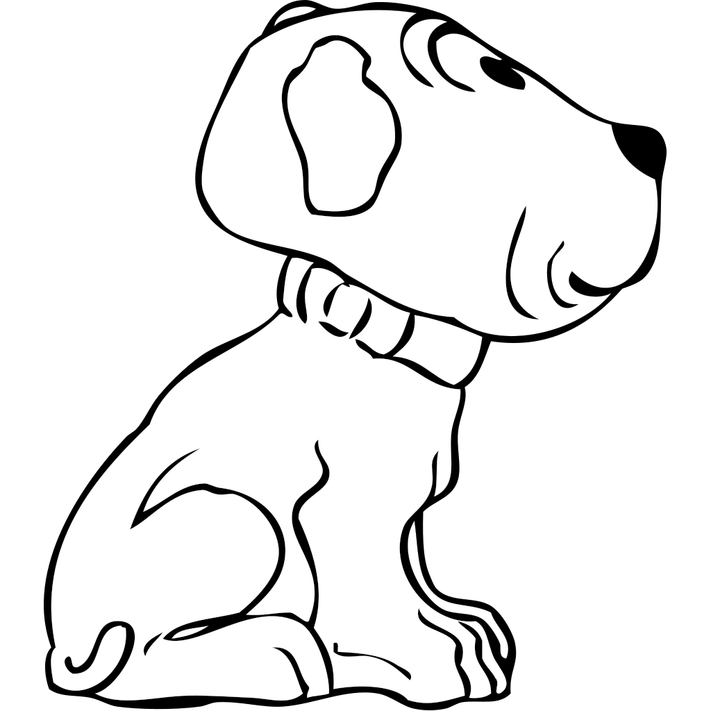 Puppy Side View SVG Clip arts