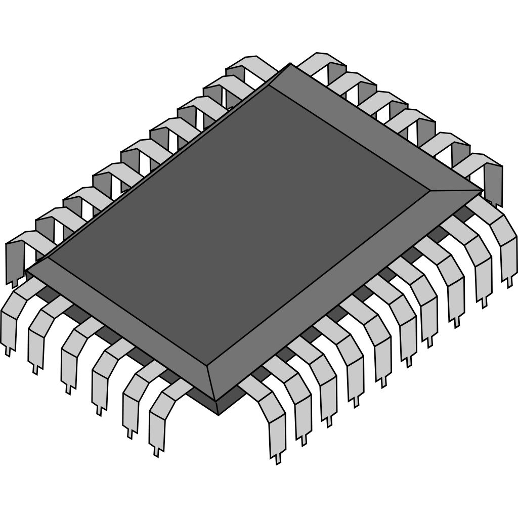 Dsp Processor Chip SVG Clip arts