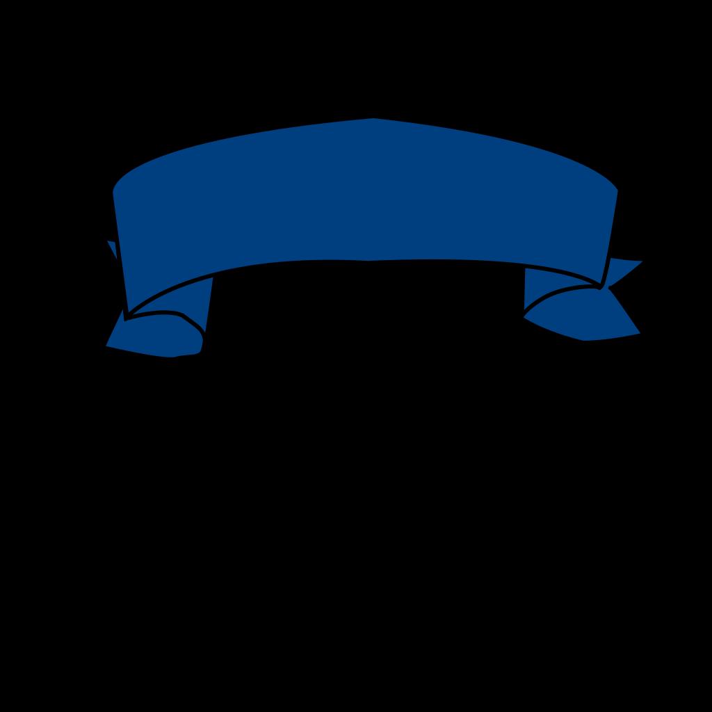 Blue Banner SVG Clip arts