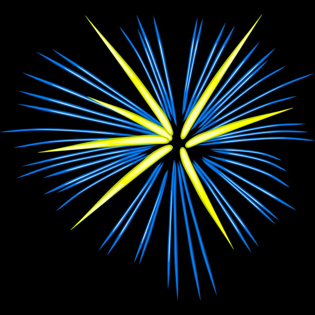 Blue Fireworks SVG Clip arts