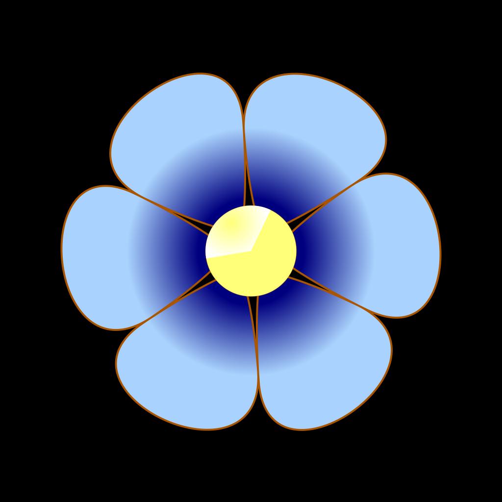Blue Flower Purple SVG Clip arts