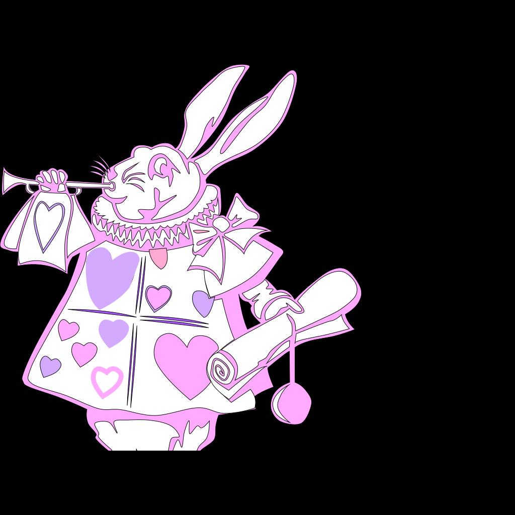 The White Rabbit SVG Clip arts