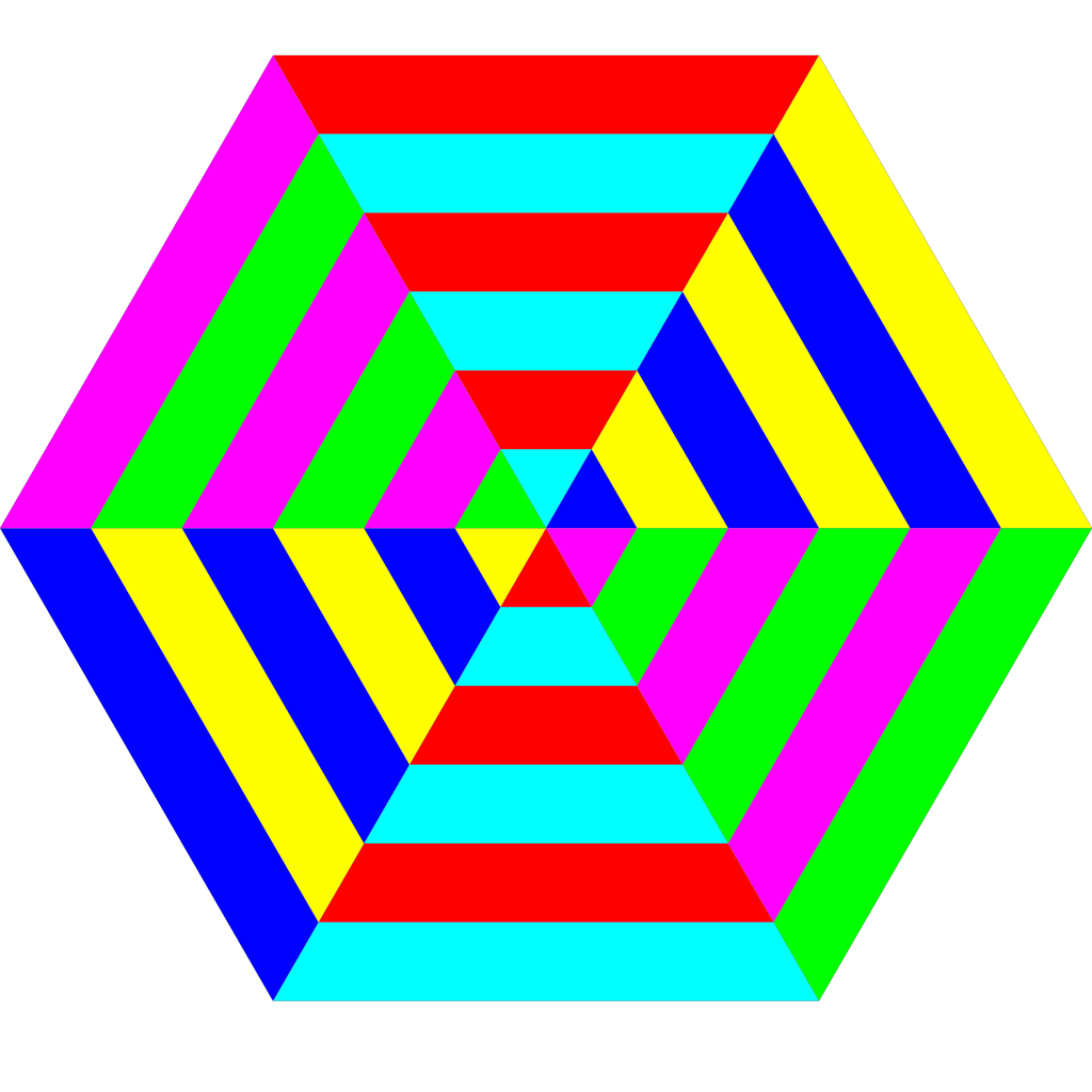 Hexagon Triangle Rainbow SVG Clip arts