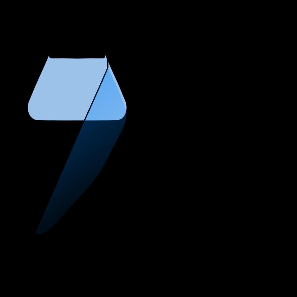 Chem Flask Blue SVG Clip arts