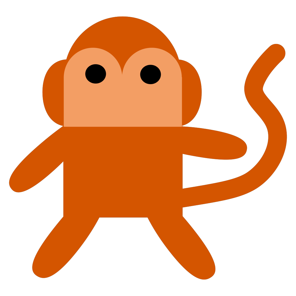Cheeky Monkey SVG Clip arts