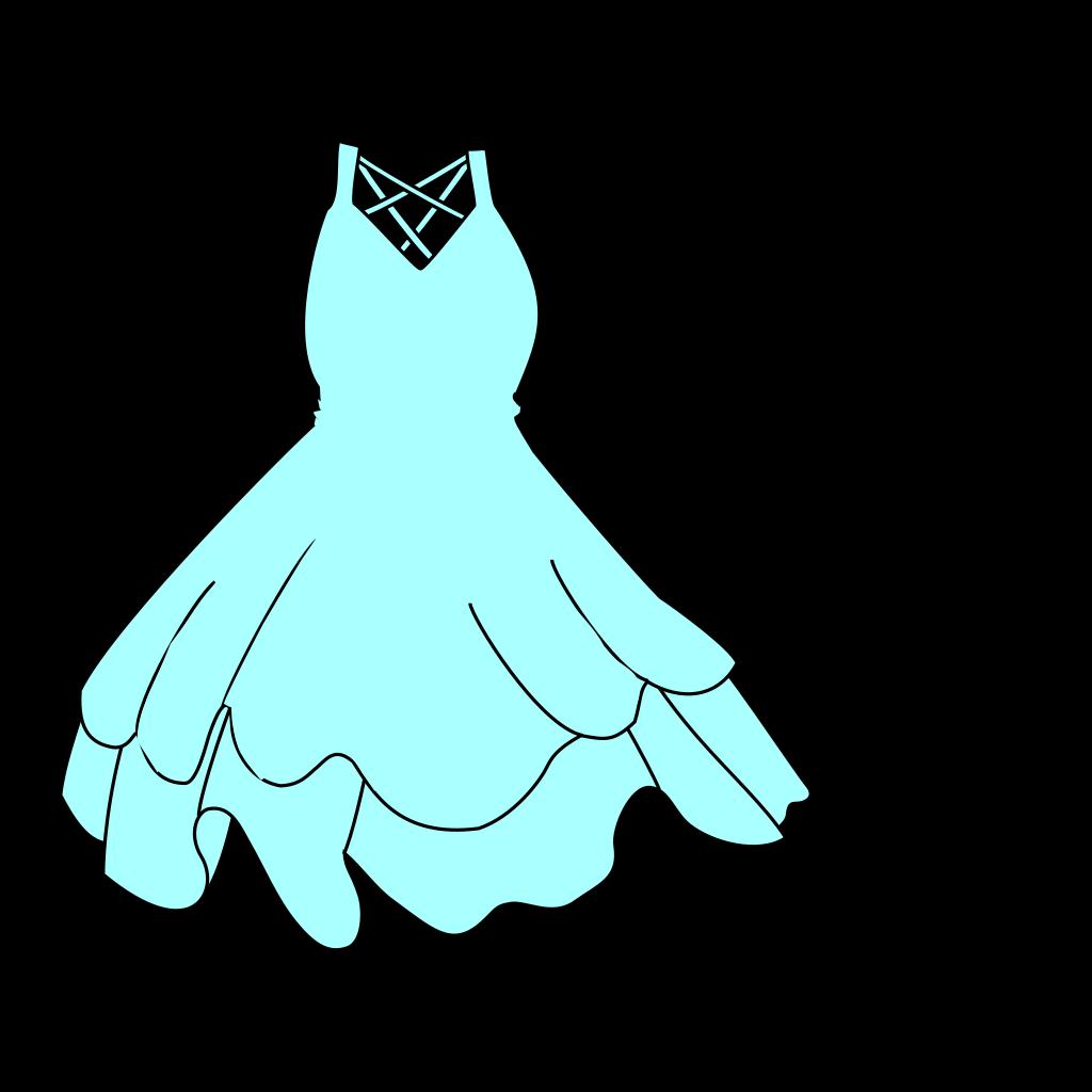 Pale Blue Dress SVG Clip arts