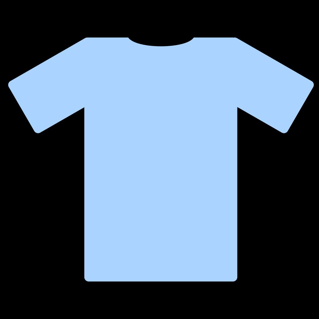 Light Blue T Shirt SVG Clip arts