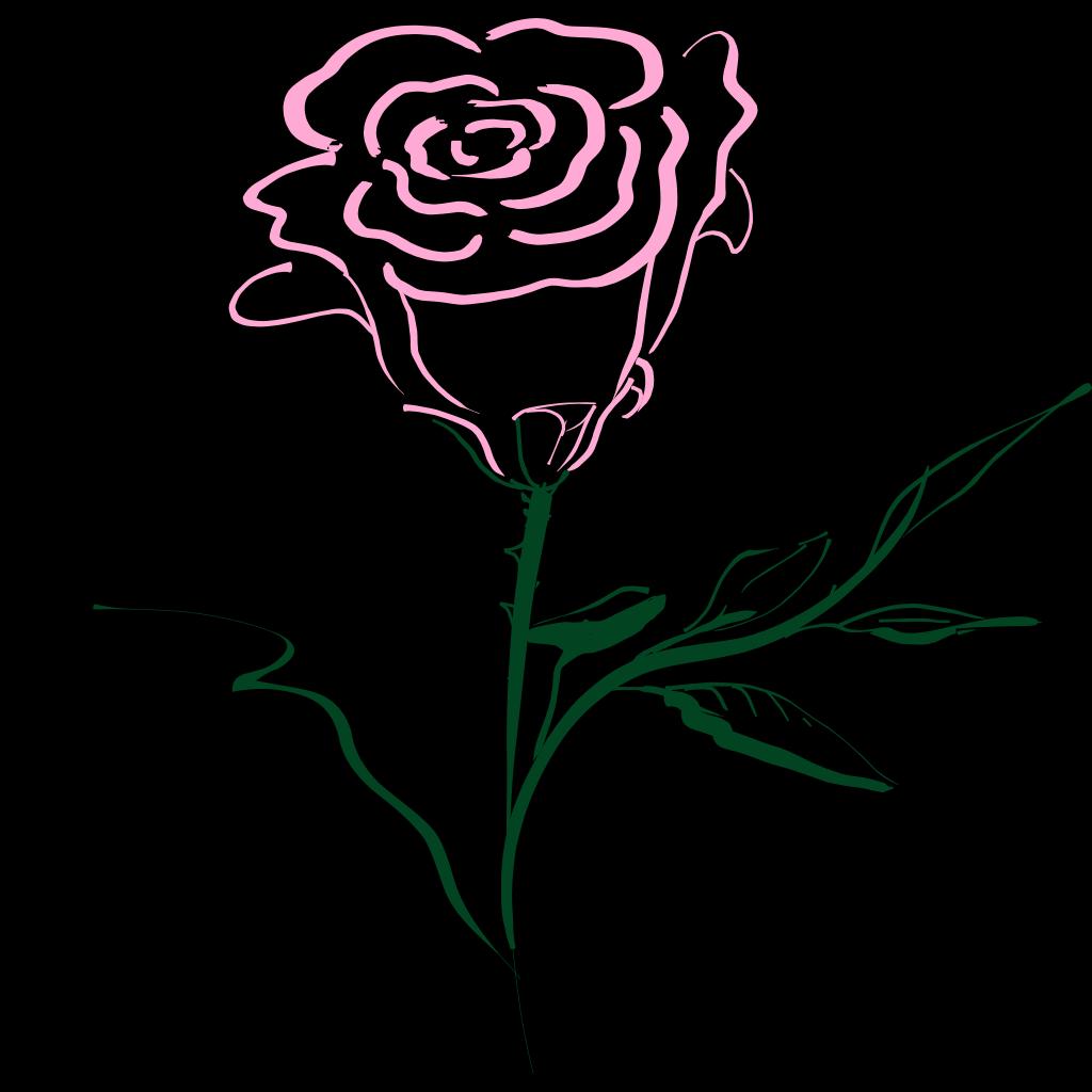 Pink Rose SVG Clip arts