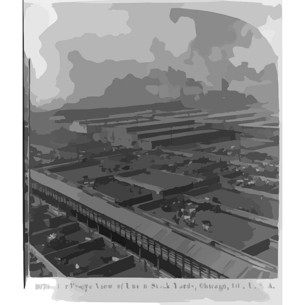 Birds-eye View Of Union Stock Yards, Chicago, Ill., U.s.a. SVG Clip arts