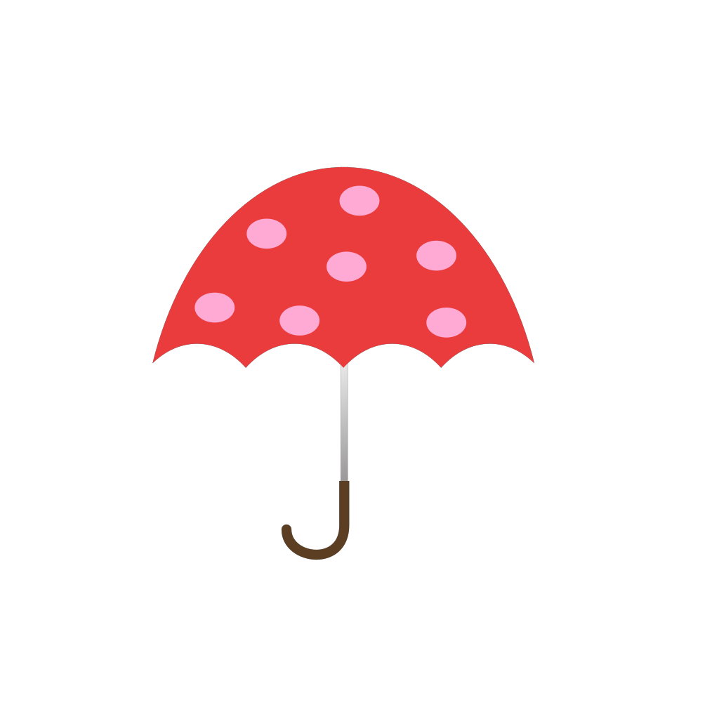 Polka Dot Umbrella SVG Clip arts