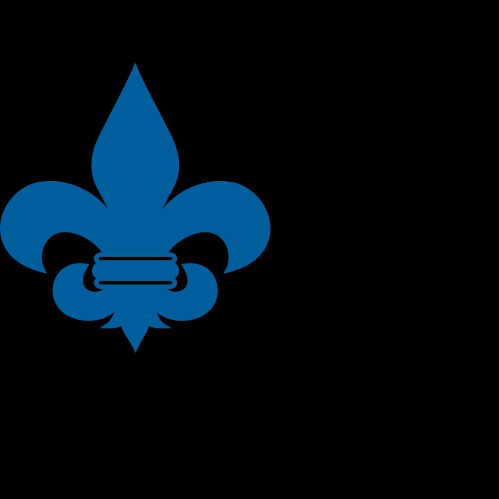 Cub Scout Blue Fleur De Lis SVG Clip arts