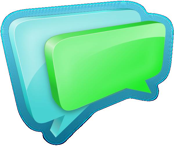 Chat Bubbles SVG Clip arts