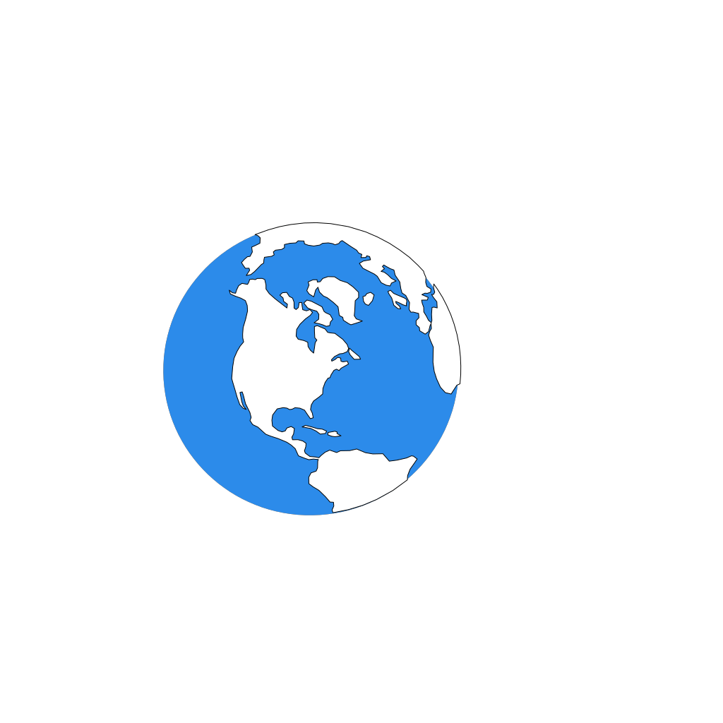 Blue Earth Icon SVG Clip arts