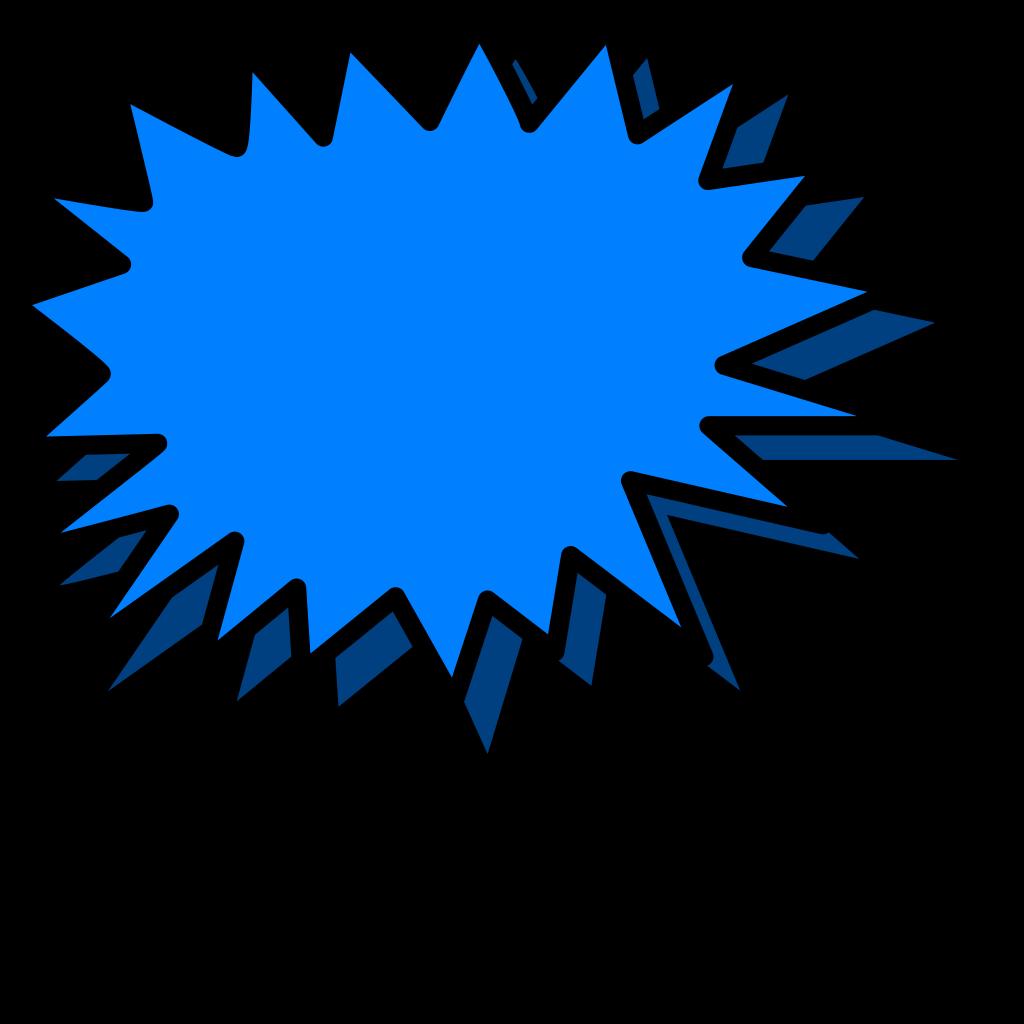 Blue Explosion SVG Clip arts