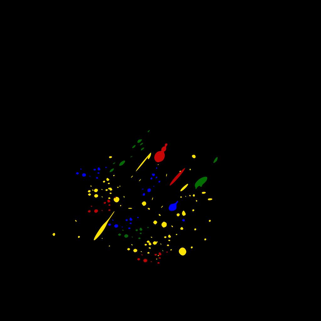 Paint Splatter Colors SVG Clip arts
