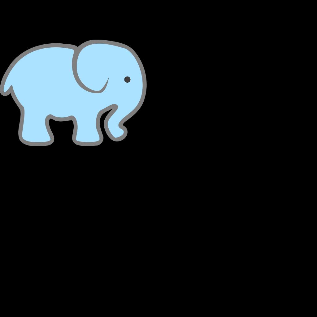 Lt Blue Baby Elephant SVG Clip arts