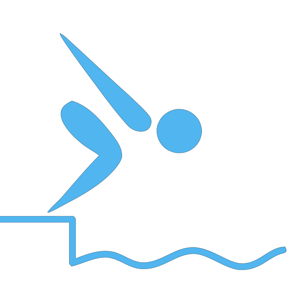 Swimmer Blue SVG Clip arts