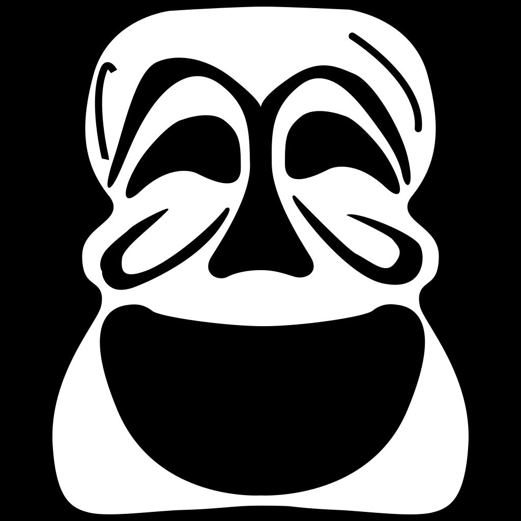Goalie Mask Simple Outline SVG Clip arts