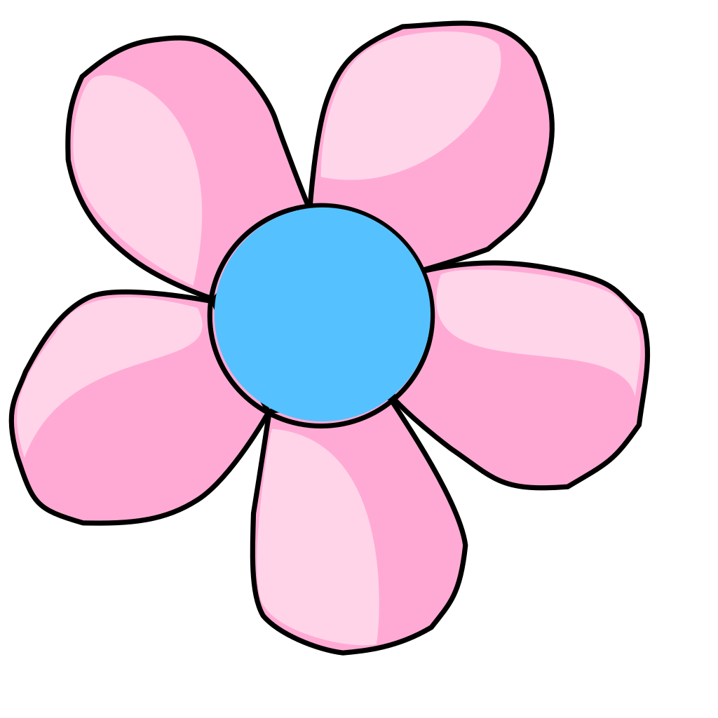 Daisy Pink And Blue SVG Clip arts