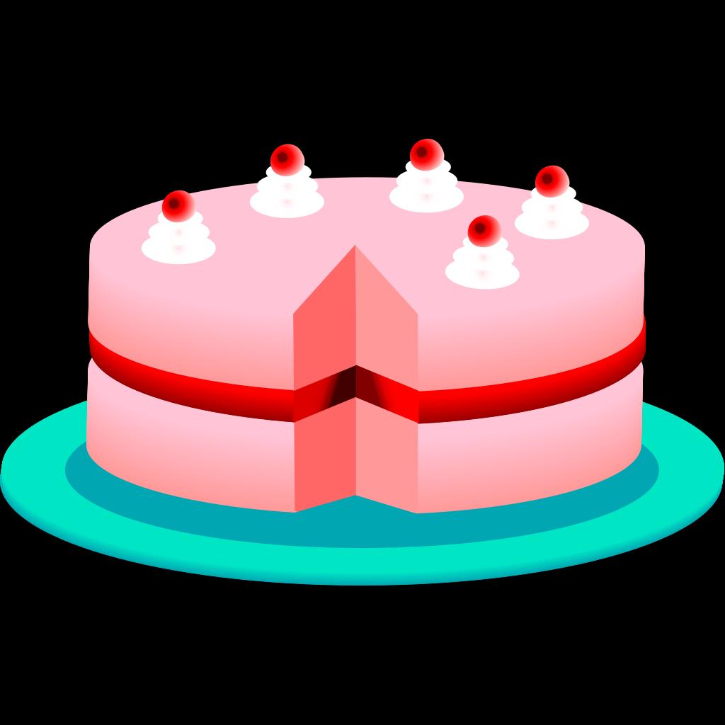Birthday Cake 2 SVG Clip arts