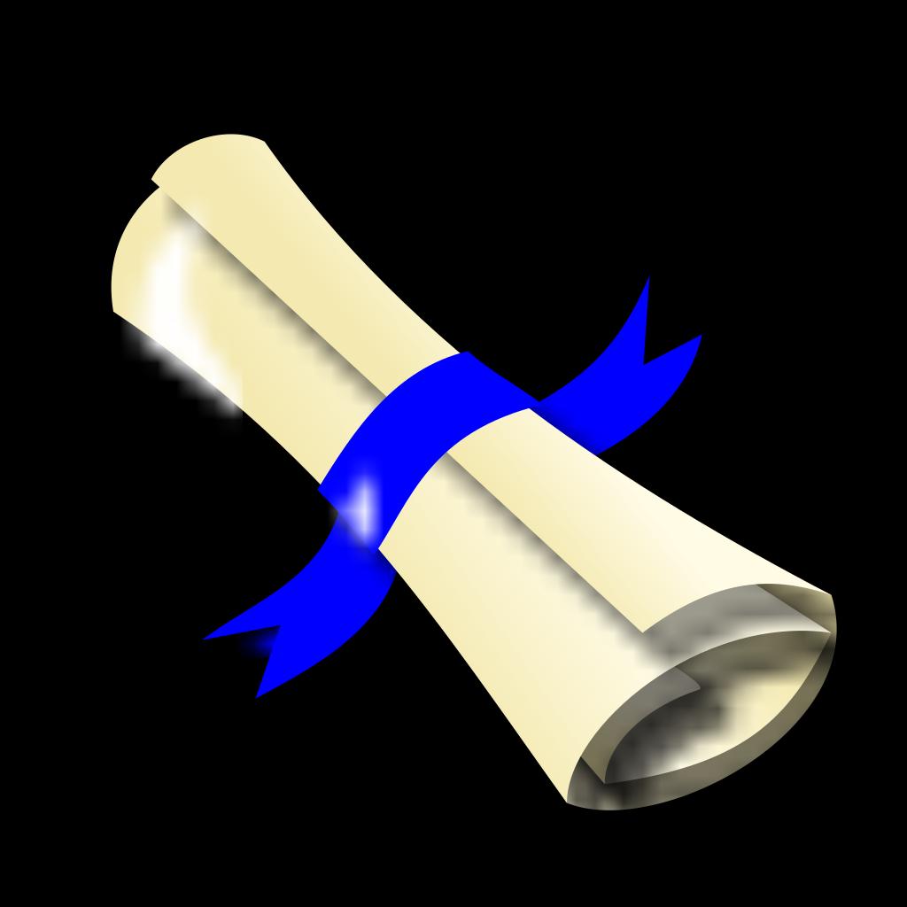 Diploma Blue Ribbon SVG Clip arts
