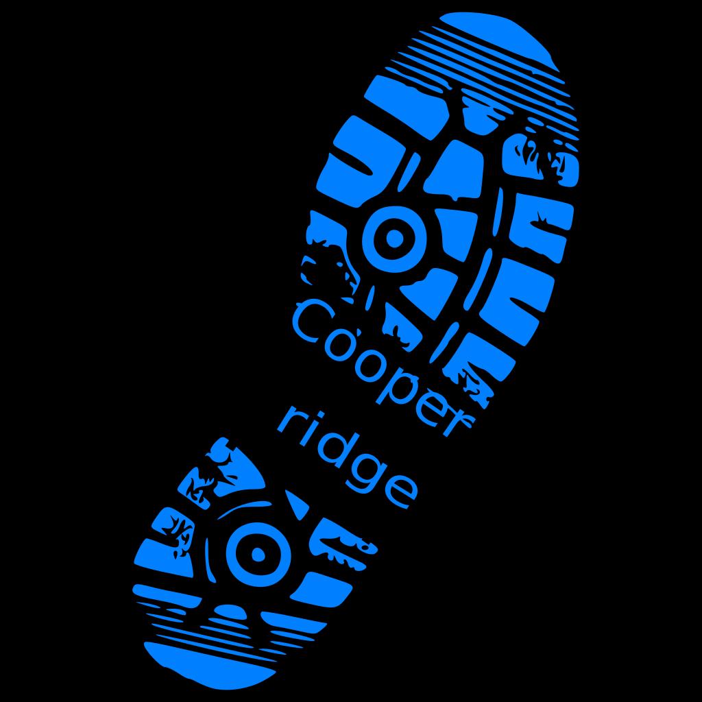 Sneaker Print SVG Clip arts