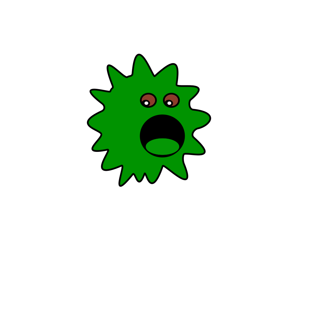 Green Virus SVG Clip arts