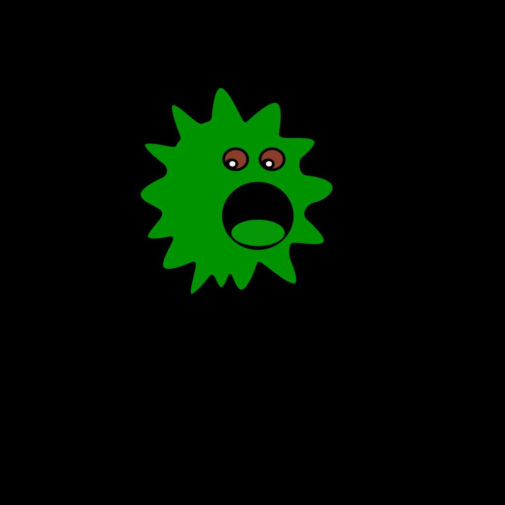 Green Virus SVG Clip arts