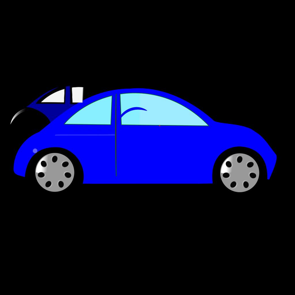 Blue Car2 SVG Clip arts