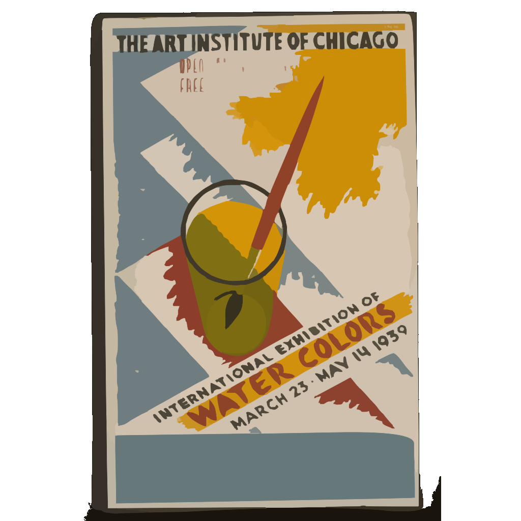 International Exhibition Of Water Colors The Art Institute Of Chicago - March 23 - May 14 1939 / Gregg. SVG Clip arts